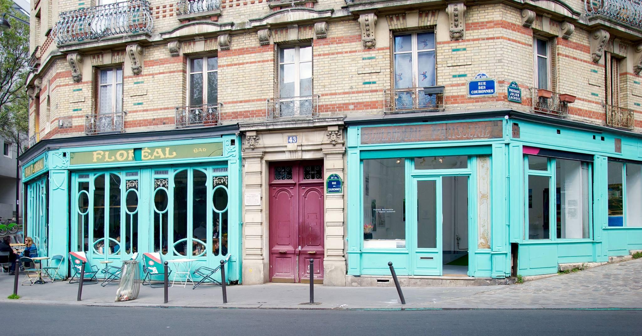 Façade du bar Floréal Belleville