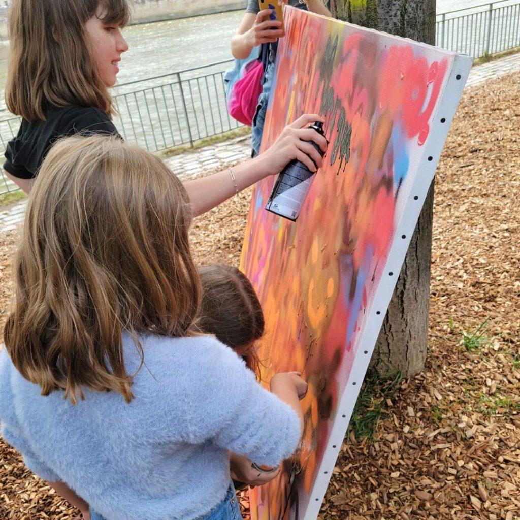 atelier street art la place sur seine